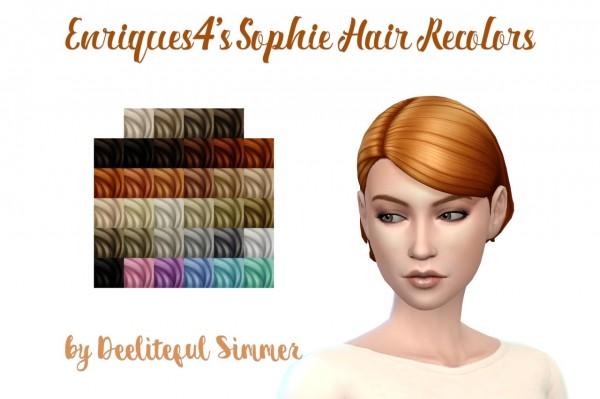 Deelitefulsimmer: Enrique`s Sofia hair retextured for Sims 4