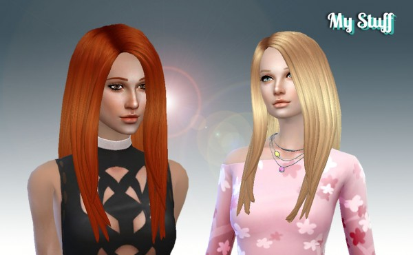 Mystufforigin: Emilia Hairstyle for Sims 4