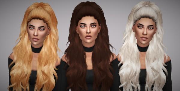Aveline Sims: Anto`s Atenea naturals hair retextured for Sims 4