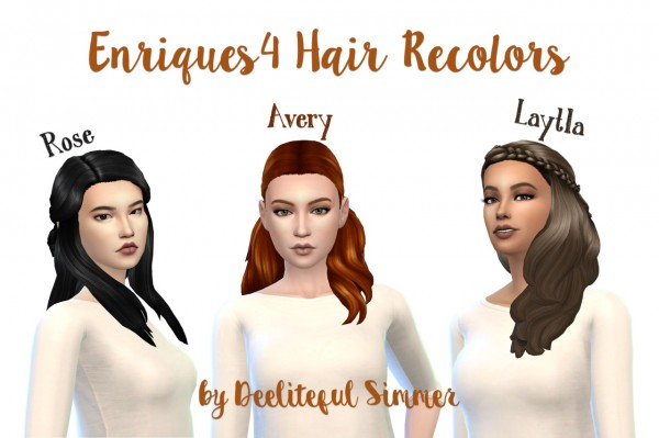 Deelitefulsimmer: Enrique` hairs recolors for Sims 4