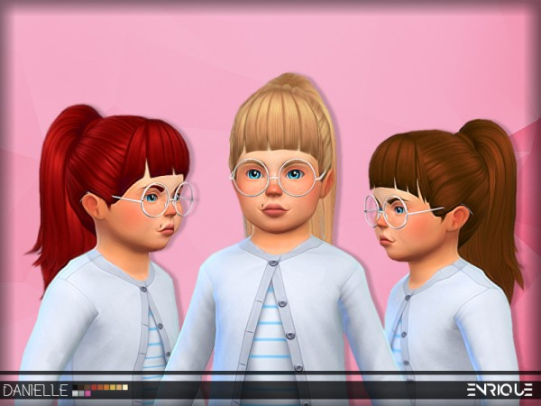 Enrique: Daniellle Hair F/Toddler for Sims 4