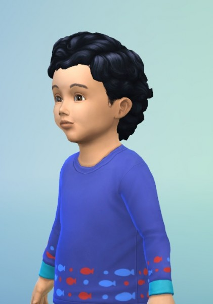 Birksches sims blog: Big Toddler Curls for Sims 4