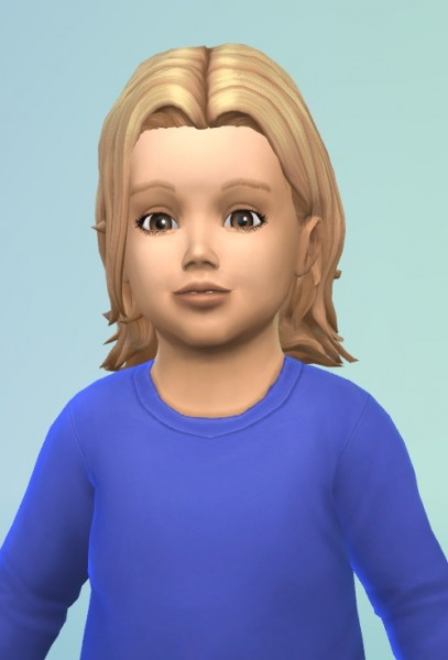 Birksches sims blog: Wavy Swept for Toddler for Sims 4