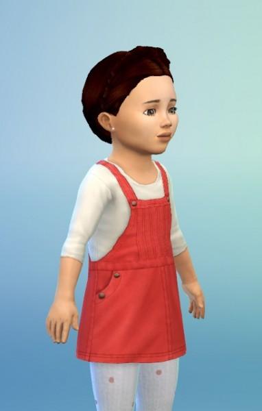 Birksches sims blog: Braided Hair Wreath hair for Toddler for Sims 4