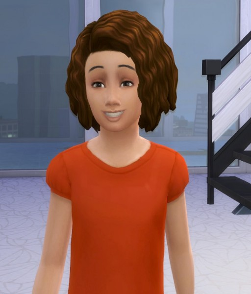 Birksches sims blog: Mega curls for Kids for Sims 4