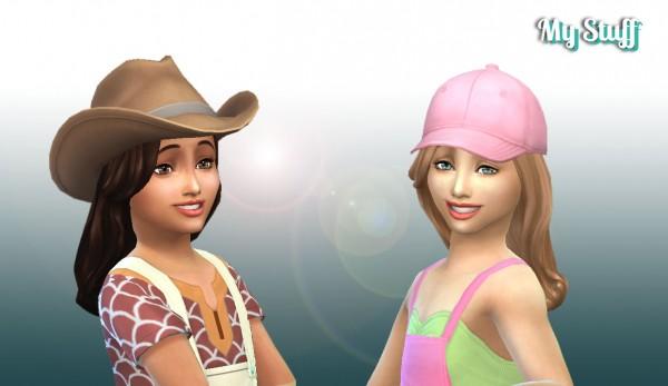 Mystufforigin: Caroline Hairstyle for Girls for Sims 4
