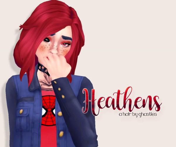 Ghasties: Heathens hair for Sims 4