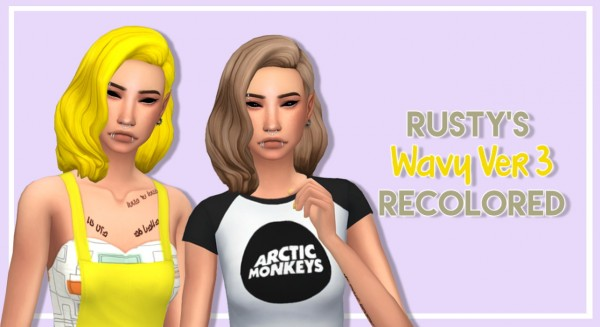 Tranquility Sims: Rusty's Wavy hair recolored for Sims 4