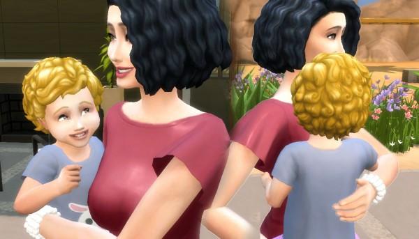 Mystufforigin: Medium Curly Conversion for Toddlers for Sims 4