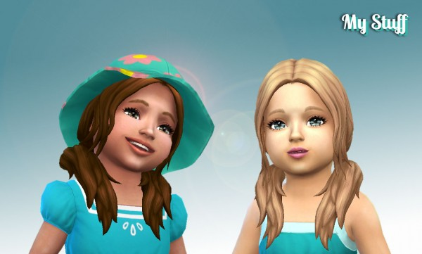 Mystufforigin: Loose Wavy for Toddlers for Sims 4