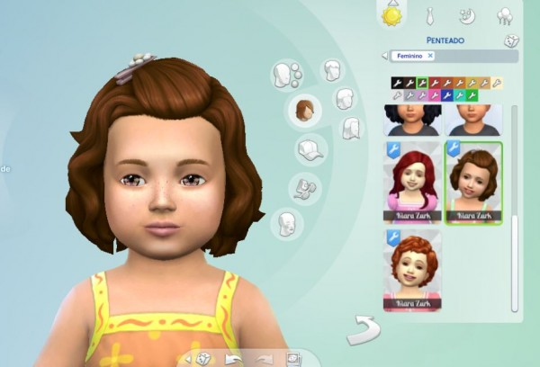 Mystufforigin: Short Wavy Pinned for Toddlers for Sims 4