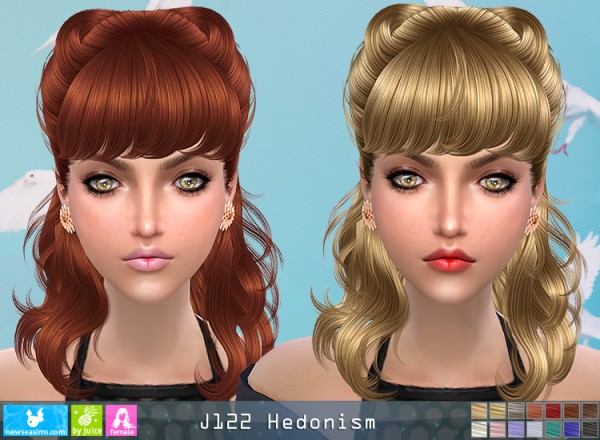 NewSea: J122 Hedonism hair for Sims 4