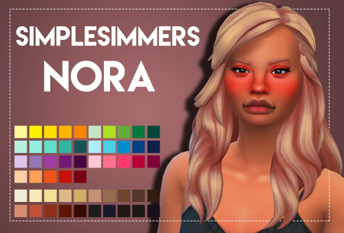 Weepingsimmer: Simplesimmers Nora hair recolored for Sims 4