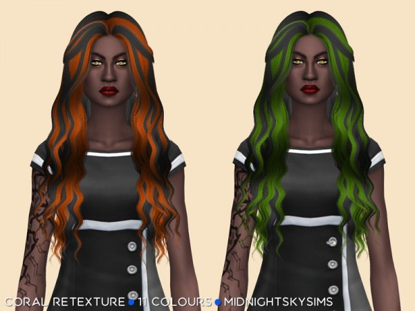 Simsworkshop: Coral hair retextured for Sims 4