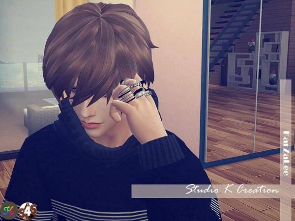 Studio K Creation: Animate hair 27   Rin renewal for Sims 4