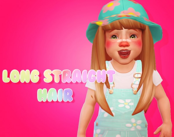 Sul Sul: Long Straight Hair for Sims 4