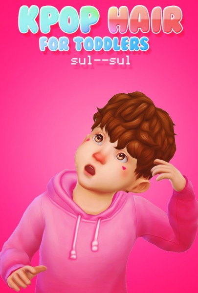 Sul Sul: Kpop Hair for Toddlers for Sims 4