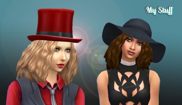 Mystufforigin: Melodic Waves hair for Sims 4
