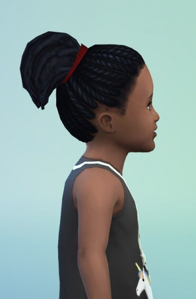 Birksches sims blog: Toddler Dread Ponytail for Sims 4