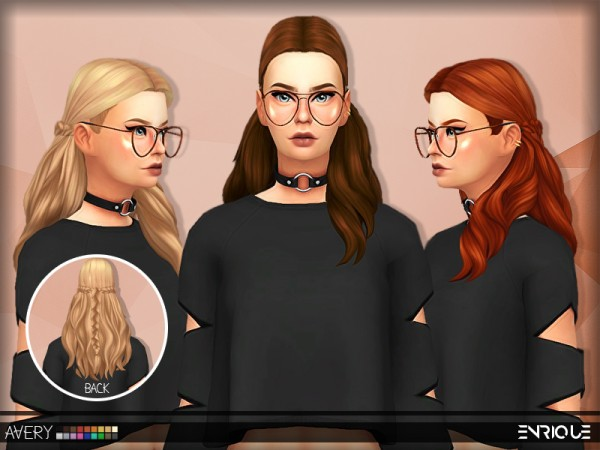 Enrique: Avery Hair for Sims 4