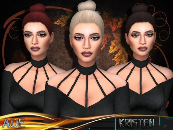 The Sims Resource: Kristen hair by Ade Darma for Sims 4