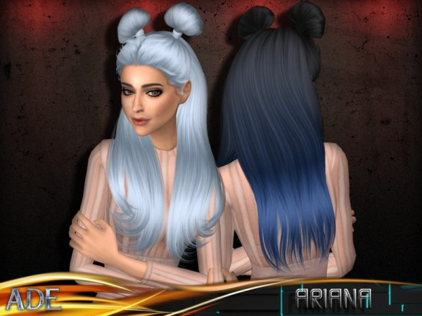 The Sims Resource: Ariana hair by Ade Darma for Sims 4