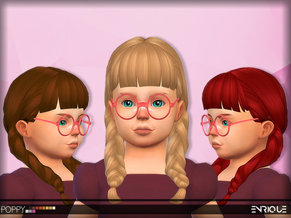 The Sims Resource: Enriques4`s Poppy Hair for Toddlers retextured by jruvv for Sims 4