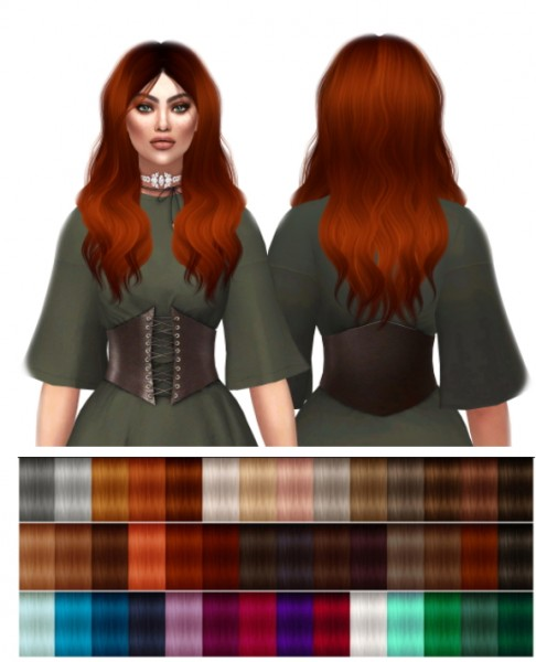 Kenzar Sims: LeahLillith`s Rogue hair retextured for Sims 4