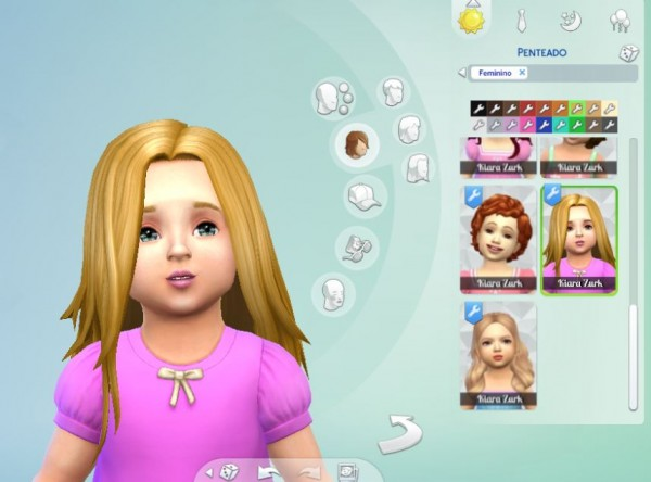 Mystufforigin: Harmony hair for Toddlers for Sims 4