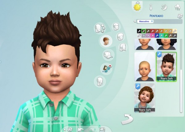 Mystufforigin: Pompadour Spiky hair for Sims 4
