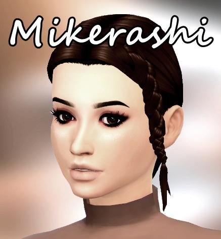 Mikerashi: Rockabye Hair for Sims 4