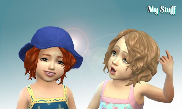 Mystufforigin: Delirious Hairstyle for Toddlers for Sims 4