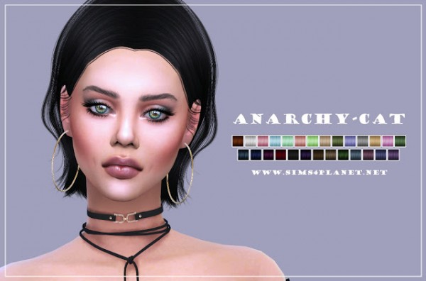 Anarchy Cat: Sintiklia`s 49 Freeze hair retextured for Sims 4