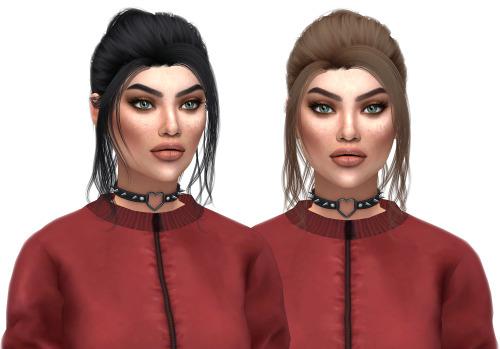 Kenzar Sims: Anto`s Blossom hair retextured for Sims 4