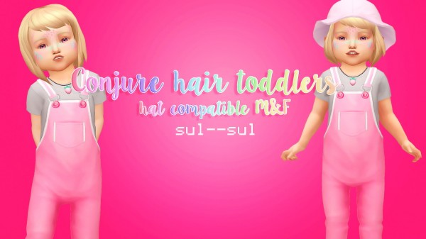 Sul Sul: Conjure Toddler Hair for Sims 4
