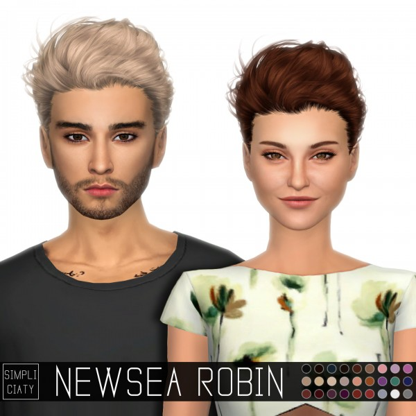 Simpliciaty: Newsea`s Robin hair retextured for Sims 4