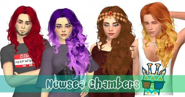 Stardust: Newsea`s Chambers hair retextured for Sims 4