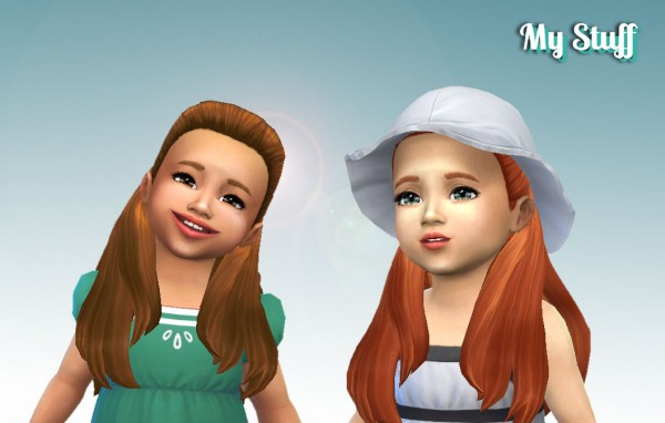 Mystufforigin: Ariana Hair for Toddlers for Sims 4