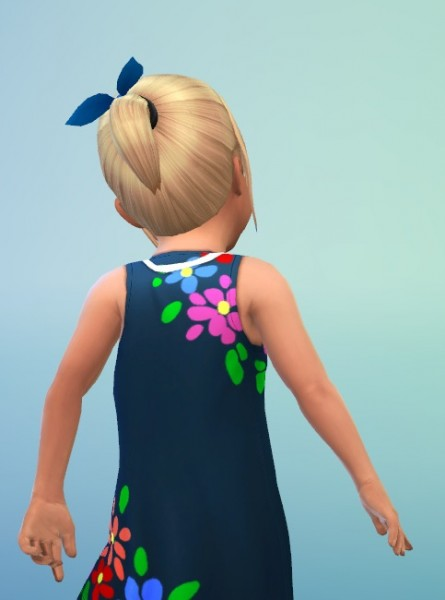 Birksches sims blog: PonyTail with Band hair for Sims 4