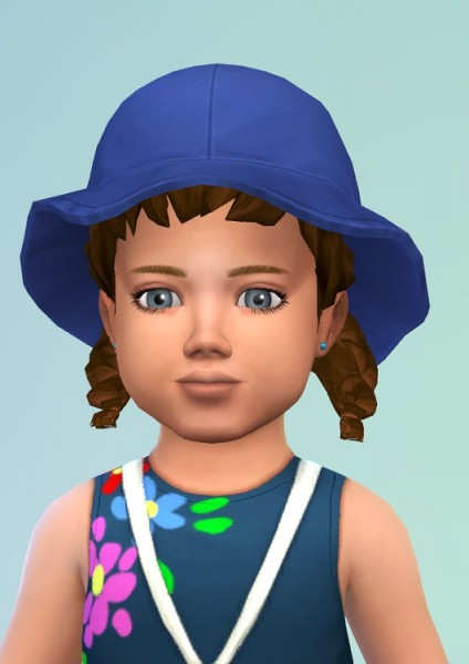 Birksches sims blog: Toddler Curl Pigtails hair for Sims 4
