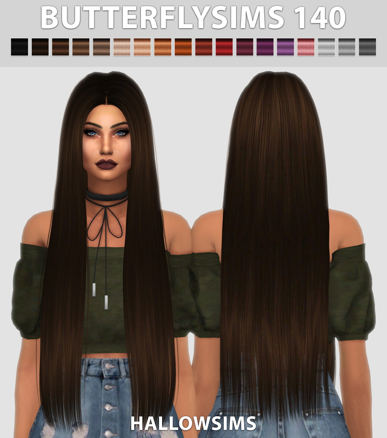 Sims 4 Hairstyles: Hallow Sims: Butterfly`s 140 Hair Retextured