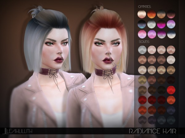The Sims Resource: Radiance Hair by LeahLillith for Sims 4