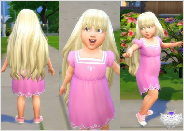 David Sims: Princess Hair for Toddlers for Sims 4
