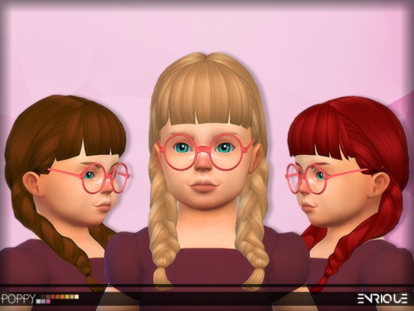Enrique: Poppy Hair for toddlers for Sims 4