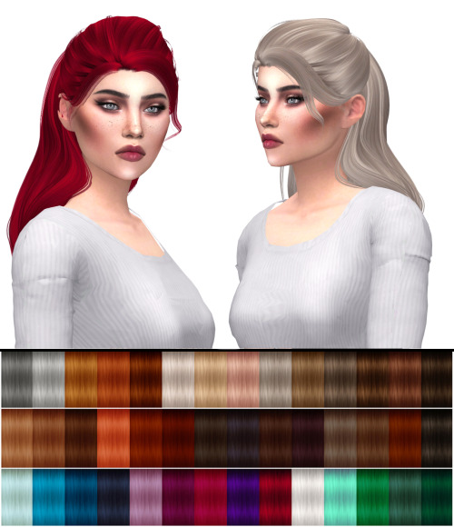 Kenzar Sims: Anto`s System hair retextured for Sims 4