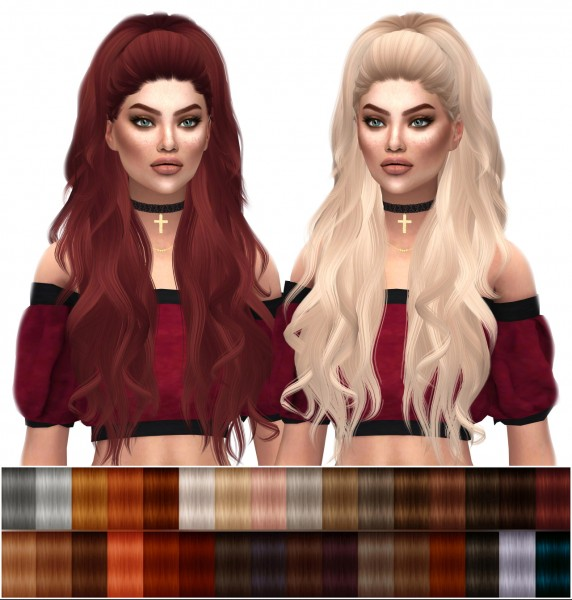 Kenzar Sims: Anto`s Atenea Naturals hair retextured for Sims 4