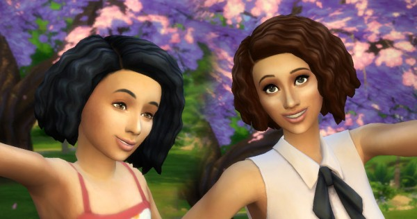 Mystufforigin: Twist Out hair conversion for Sims 4