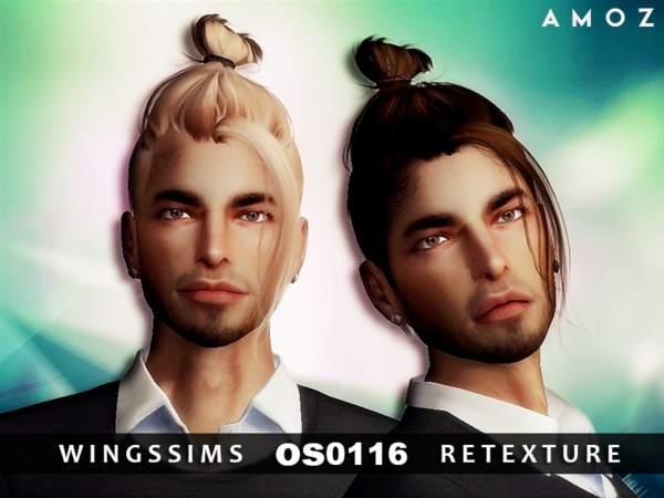 The Sims Resource: WINGS OS0116 hair retextured by Amoz for Sims 4