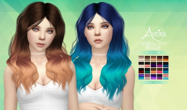 Aveira Sims 4: Leahlillith's Rogue hair retextured for Sims 4