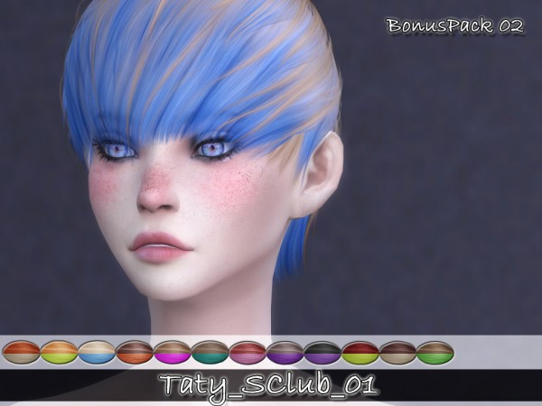 Simsworkshop: S club`s 02 Bonus pack hair retextured by Taty for Sims 4
